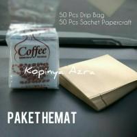 Jual Paket Drip Bag Coffee Filter + Sachet Premium Papercraft Murah