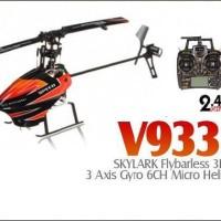 RC Helicopter WLtoys V933 SKYLARK 6 Ch Flybarless 2.4G 3D flight RTF