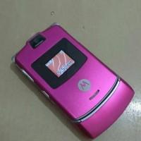 HP Motorola Razr V3 Pink Full Mulus Normal Batangan