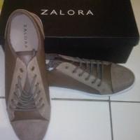 Sepatu Sneaker ZALORA Kombinasi Coklat ex Kado not Nike Adidas vans