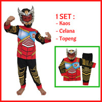 Jual Promo Baju Kaos Anak Kostum Topeng Superhero SATRIA BIMA X Murah
