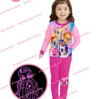 S-gw8-b Glow In The Dark - Piyama Anak - My Little Pony 8t-13t