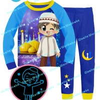 S-gw8-g Glow In The Dark - Piyama Anak - Muslim Moslem Boy 8t-13t