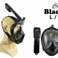 "masker snorkeling""THENICE' full face(hitam) XL/L-M/S"