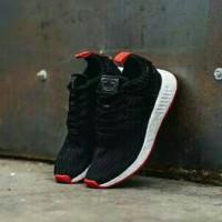 26c7d10b7 Jual Adidas NMD R2 Black Red Sepatu Jalan Olahraga Pria PREMIUM Murah