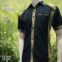 SERAGAM BATIK   Batik Kombinasi Eksklusif EX-032   BLACK MAHAKAM