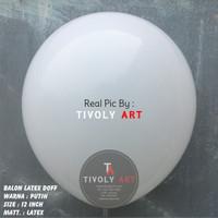 Balon Latex Doff / Balon Doff Putih