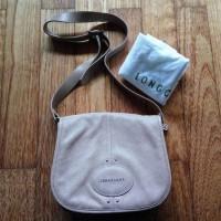 Tas Longchamp Quadri Crossbody Bag With Flap Beige Asli Ori Authentic