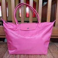 Tas Longchamp Le Pliage Neo Tote Bag LLH Rose Large Asli / Ori