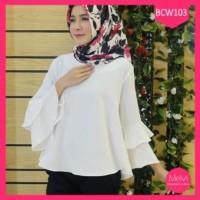 Grosir- Baju Blouse Wanita Putih Muslim Untuk Pesta