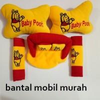 Jual car set winnie the pooh 3 in 1 (bantal mobil, bantal mobil winnie the Murah