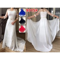 Gaun Kebaya Ekor 9315 / Baju Panjang / Baju Muslim / Gamis Impor