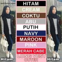 Jual Atasan Muslim Wanita Long Cardigan Muslim [LONG VEST OUTER] Murah