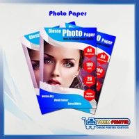 Kertas Photo Glossy A4 untuk Printer Inkjet