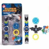 Jual jam tangan anak mainan multifungsi lego super heroes batman Murah