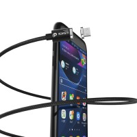 Jual WSKEN X-Cable Mini 2 Magnetic for Micro USB & iphone Lightning Black Murah