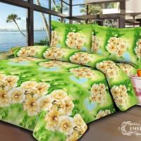 Jual V-Bed Bed Cover SET 160x200x30 No.2 Queen Size - Emerald Murah