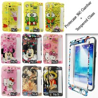 Protect 360Case Gambar + Temperedglass for Oppo/Xiaomi/Samsung/iPhone