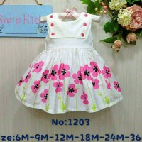 Dress Sara Baby 02 Bunga Pink