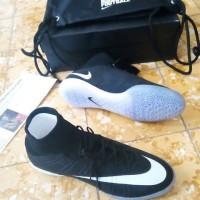 Sepatu Futsal Nike Elastico Superfly SE Black White Ori
