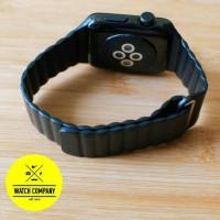Jual Strap Apple Watch Magnetic Leather Loop iWatch IWO 2 38mm/42mm Black Murah