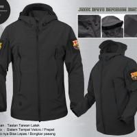 Jaket Bravo All Club / Bola Waterproof Soccer Promo Motor Hoodie Pria