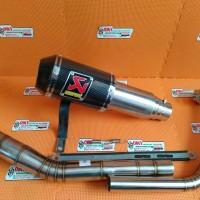 knalpot akrapovic gp lorenzo karbon for vixion new dan lama