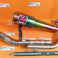 knalpot akrapovic gp gelas rainbow for vixion new dan lama fulcacing