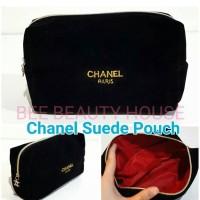 Makeup pouch tas kosmetik chanel Suede original