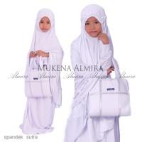 Jual Mukena / Anak/ Almira Putih Spandek Sutra Uk M (5-7th) Murah