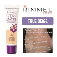 Rimmel Stay Matte Liquid Mousse Foundation - True Beige