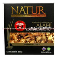 Natur Natural Shampoo & Hair Tonic Ginseng Extract Perawatan Alami