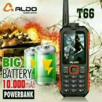 HP sekaligus Power Bank ALDO T66 DUAL SIM 10000mAH