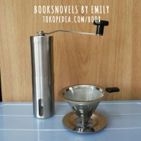 PAKET Stainless Manual Hand Coffee Grinder + V60 Dripper // Maker