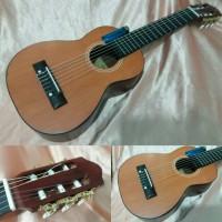 Yamaha Gl Gitar Mini Travel Akustik Cyprus Senar Nilon String Free Tas