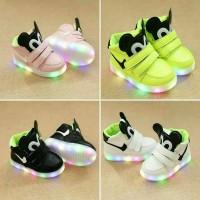 sepatu anak import mickey LED size 21-30