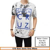 Jual  Kaos Santa Cruz White Murah