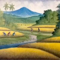 harga Lukisan Panen Padi 135x85 Fengshui Berkelimpahan Rejeki & Kemakmuran16 Tokopedia.com