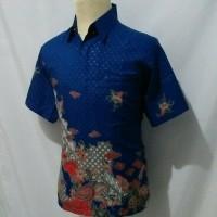 Jual Kemeja batik pria baju batik cowok semi sutra t14 Murah