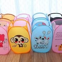Keranjang Pakaian Lipat Karakter Bag Animal 231-Laundry Basket motif