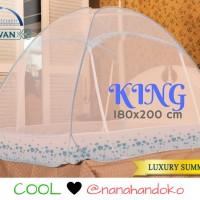 Jual Kelambu Lipat Bed Canopy Javan Luxury Summer Blue (180x200cm) Murah