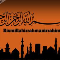 Repro Digital Lukisan Kaligrafi Arab Bismillah Allah Moslem Islam