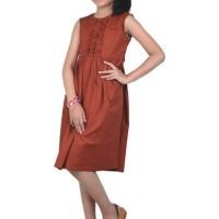 Dress Anak Perempuan Catenzo Junior CSH 023 Merah Bata 4,6, 8, 10