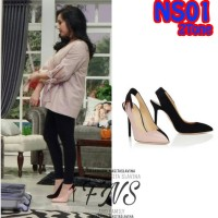 Sepatu High Heels 9cm Replika Nagita Slavina Fashion 2 Tone, (NS01)