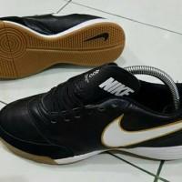 sepatu futsal nike tiempo x genio leather hitam ic grade ori import