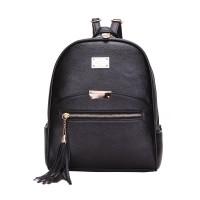 Tas Wanita Import C91828 Black Backpack Ransel Korea Fringe Rumbai H&M