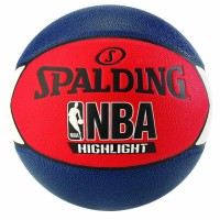BOLA BASKET SPALDING NBA HIGHLIGHT COMPOSITE MARINE RED WHITE