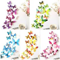 Jual wall sticker/stiker dinding/wallpaper/hiasan dinding kupu kupu 3D Murah