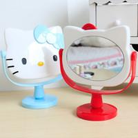Jual Mirror hello kitty/ kaca cermin rias dengan bingkai hello kity- khm1 Murah