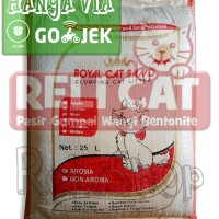 Jual Pasir Kucing Gumpal Wangi Cat Sand Bentonite Royal Catsand 25 Liter Murah